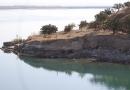 Les rives du lac Birecik alimenté par les eaux de l'Euphrate