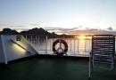 Soleil de minuit - vue depuis le bateau