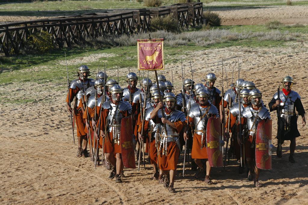 Defile de soldats romains