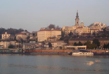 Belgrade depuis la Save