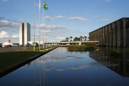 L'esplanade des ministères entre Itamary et la parlement