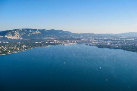 Extrémité du Lac Léman à Genève