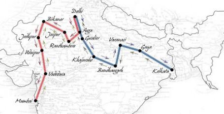 maharajas' express map