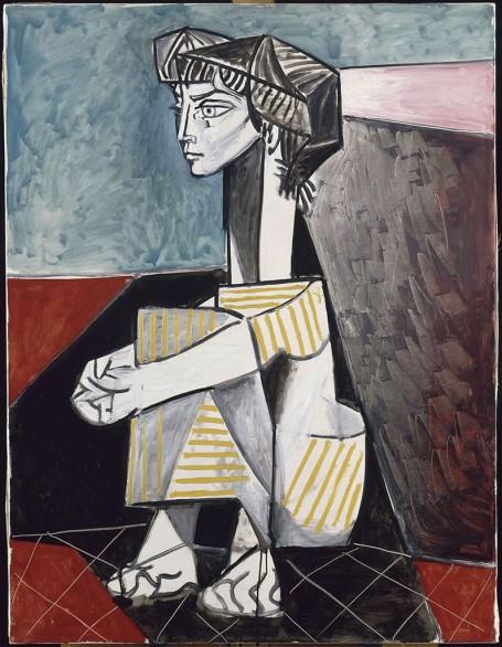 Jacqueline aux mains croisees, Picasso