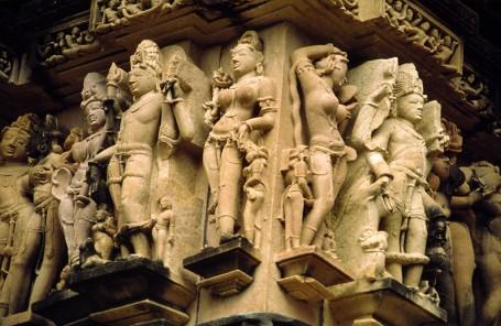 Sculptures erotiques de Khajuraho