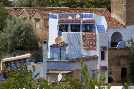Terrasse avec tapis