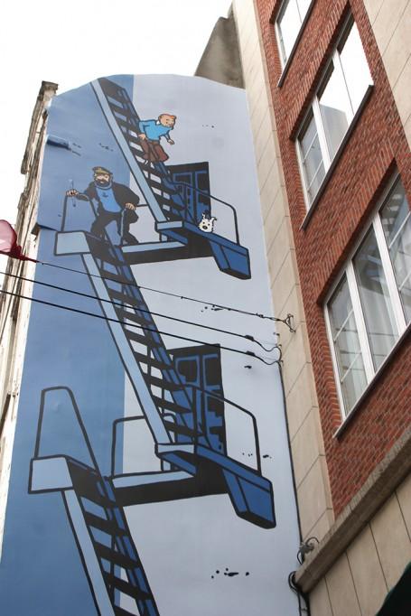 Fresque murale Tintin