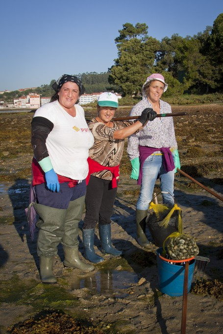 Pêche à pied, O Grove, Galice