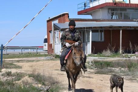 Berger à cheval, ASTANA,KAZAKHSTAN