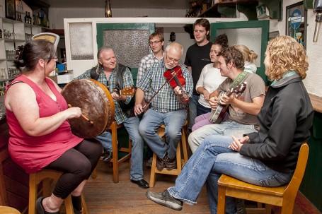Cashel, County Tipperary, Ireland. Mickey Ryan's Bar. Music Session.